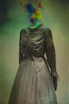 """""""Silenced by a dress"""" This photograph is part of a series called """"Imagines lives"""""""