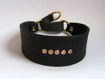 Halsband aus Fettleder (B), schwarz