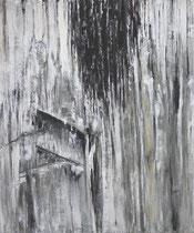 """""""Unter der Rinde"""", Acryl auf Baumwolle, 120 x 100 cm"""