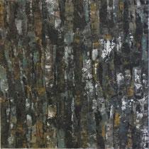 """""""Wegzeichen ?"""", Acryl auf Baumwolle, 80 x 80 cm"""