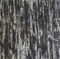 """""""Wegzeichen"""", Acryl auf Baumwolle, 80 x 80 cm"""
