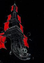 Beijing 2.015 création Hervé Arnoul voyage extraordinaire de la Tour Eiffel en Chine:Etude graphique.