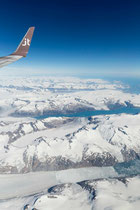 Anflug auf Südgrönland