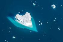 Herz Eisberg aus dem Heli