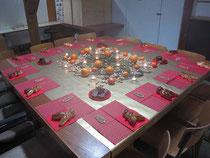 Dank Fränzi und Helferinnen schön dekorierte Tische.