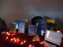 Präsentation von Büchern und Gedichtbänden