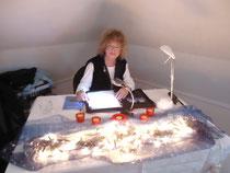 Homberger Künstlertreff 2011, während einer Lesung im Turmzimmer