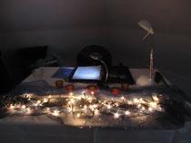 Bei Kerzenschein und gemütlichem Ambiente