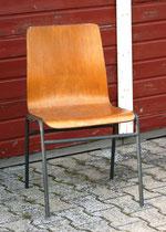 Stuhl Rohling - schichtholzverleimte Sitzfläche, Stahlrohrgestell