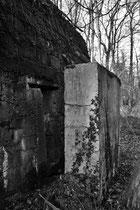 Eingangsschutzwand eines Mannschaftsunterstandes (Sentier á Burnhaupt / Sundgau)