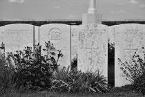 Britische Soldatengräber an der Somme (Nordfrankreich)
