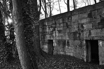 Im Jahr 1917 von der Pionier Kompanie 251 erbauter Mannschaftsunterstand (Sentier á Burnhaupt / Sundgau)