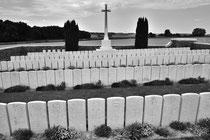 Britischer Soldatenfriedhof an der Somme (Nordfrankreich)