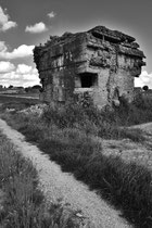 Ehemals als Haus getarnte dt. Bunkeranlage (Französisch-Flandern)