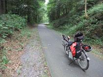 Bis Wennemen reines Genussradeln über 20 km mit Gefälle bergab