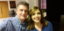 "Taking a moment for a selfie with the lovely Jen Lilley who played my niece, Isabella, in ""Paris, Wine & Romance"" for Hallmark Channel."