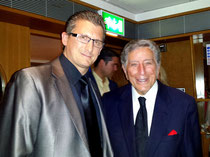 Backstage at the Royal Albert Hall in London with Tony Bennett, 2015
