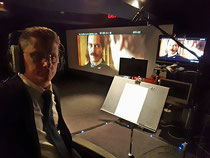 "Recording ADRs for Michael Shannon in the film, ""The Current War"" with director, Alfonso Gomez-Rejon"
