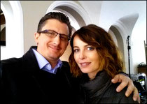Taking a break from filming Transporter: the series with the beautiful and talented Violante Placido