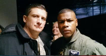 "On set in London with John Boyega in ""24: Live Another Day"""
