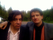 Just After Filming the fight scene in Lilyhammer with Steve Van Zandt on Location in Norway