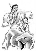 illustration jeunesse Deux sœurs deux cœurs -  contes du Burundi