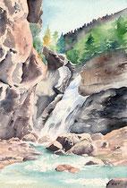 Cascade aquarelle 36X26