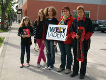 Unterwegs am Weltladentag 2010 in den Straßen von Bad Schallerbach