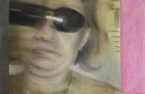 """""""Die Wahrheit liegt hinter der Iris"""" - Pastellkreide auf Papier - 70 x 50 cm"""