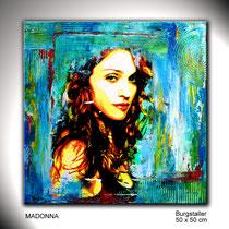Portraitmalerei Popstars abstrakt - Portrait Maler Popstars abstrakt - Portraitbilder handgemalt - Portraits - Umdruck Collage