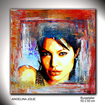 Portraitmalerei handgemalt - Portrait Maler abstrakt - Portraitbilder abstrakt handgemalt - Portraits - Umdruck Collage