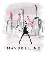 Illustration für Influencer Marketing Goodies; Personalisierte Thermo Becher für die Maybelline-Influencer auf der Nwe York-Reise