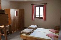 HOFPÜRGLHÜTTE Übernachten - Zimmer auf der Hofpürglhütte
