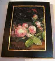 modernes Rosenbild mit selbstgemachten Rahmen
