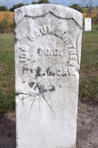 Civil War veteran Joseph Baumgartner rests in Old Prairie City Cemetery.