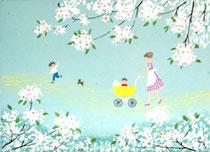 A2-11  リンゴの花の咲く頃