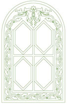 Laser cutting decorative window screens