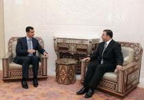 الدكتور عدنان عبدو السخنى يؤدي اليمين القانونية أمام الرئيس الأسد محافظا لمحافظة الرقة