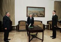أمام الرئيس الأسد سفير سورية الجديد لدى ليبيا يؤدي اليمين القانونية