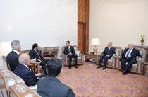 الرئيس الأسد يعقد جلسة مباحثات مع الرئيس الباكستاني آصف علي زرداري