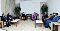الرئيس الأسد يستقبل وزيرة خارجية موريتانيا
