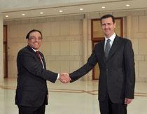 الرئيس الأسد يستقبل الرئيس الباكستاني آصف علي زرداري