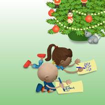 Lulu et Valentina écrivent au Père Noël