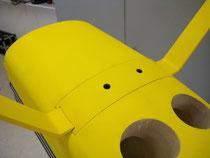 Detail Fahrwerksverkleidung