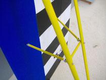 Detail Tragflächen-Verstrebungen