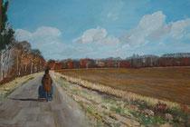 """Sonniger Herbst"",  Acryl auf Leinwand, 40x60cm, verkauft"