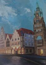 """""""Münster"""",  Acryl auf Leinwand, 70x50cm, 350€"""