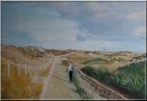 """Dünen auf Norderney"", Acryl auf Leinwand, 40x60 cm, 220 €"