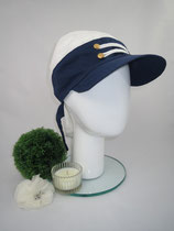 Bandeau maritim, Material reine Baumwolle, am Hinterkopf mittels Knoten auf Kopfgröße eingestellt, Preis: 39,90 €