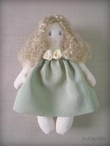Девочка, игрушка в винтажном стиле, рост 12 см.